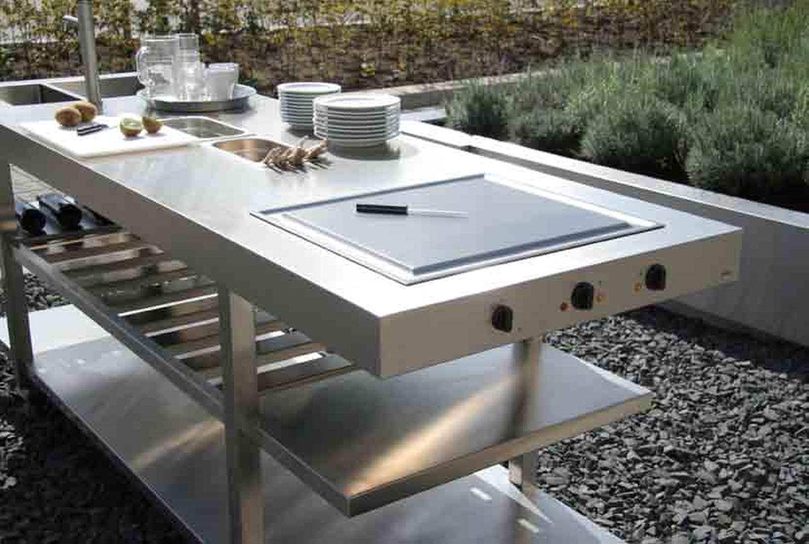 cuisine extrieur en inox paris - Plan De Travail Pour Cuisine Exterieure